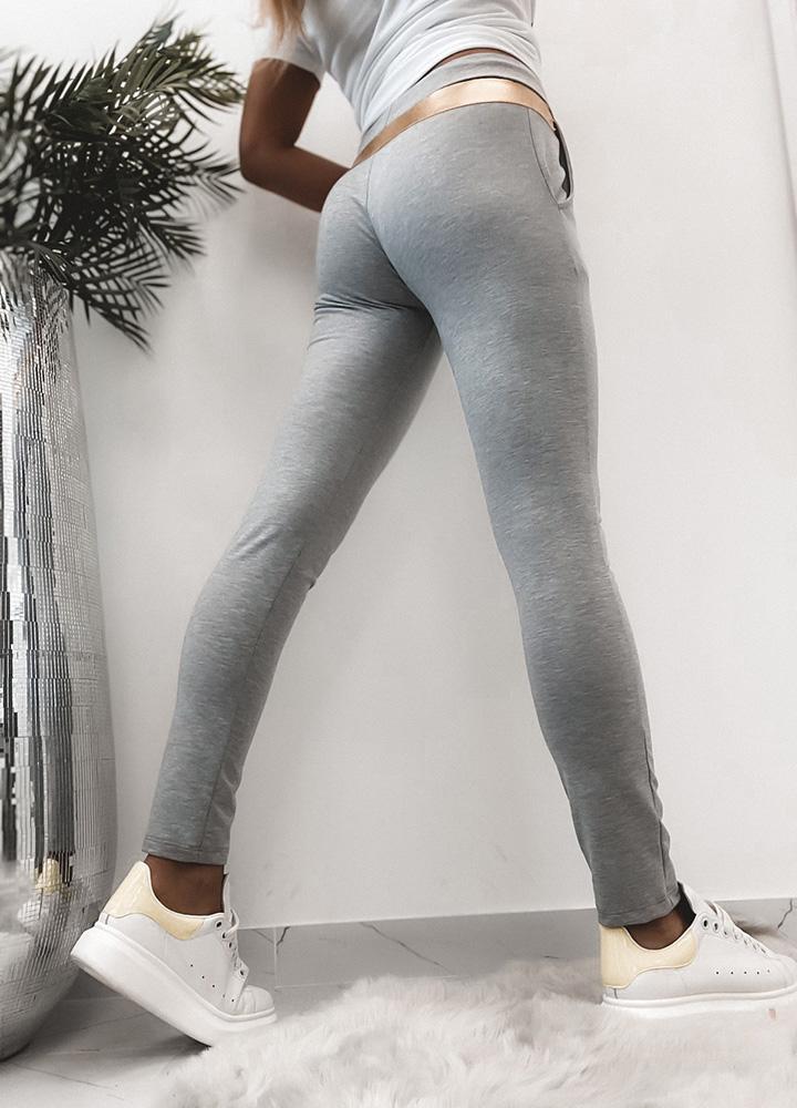 Серые хлопковые штаны