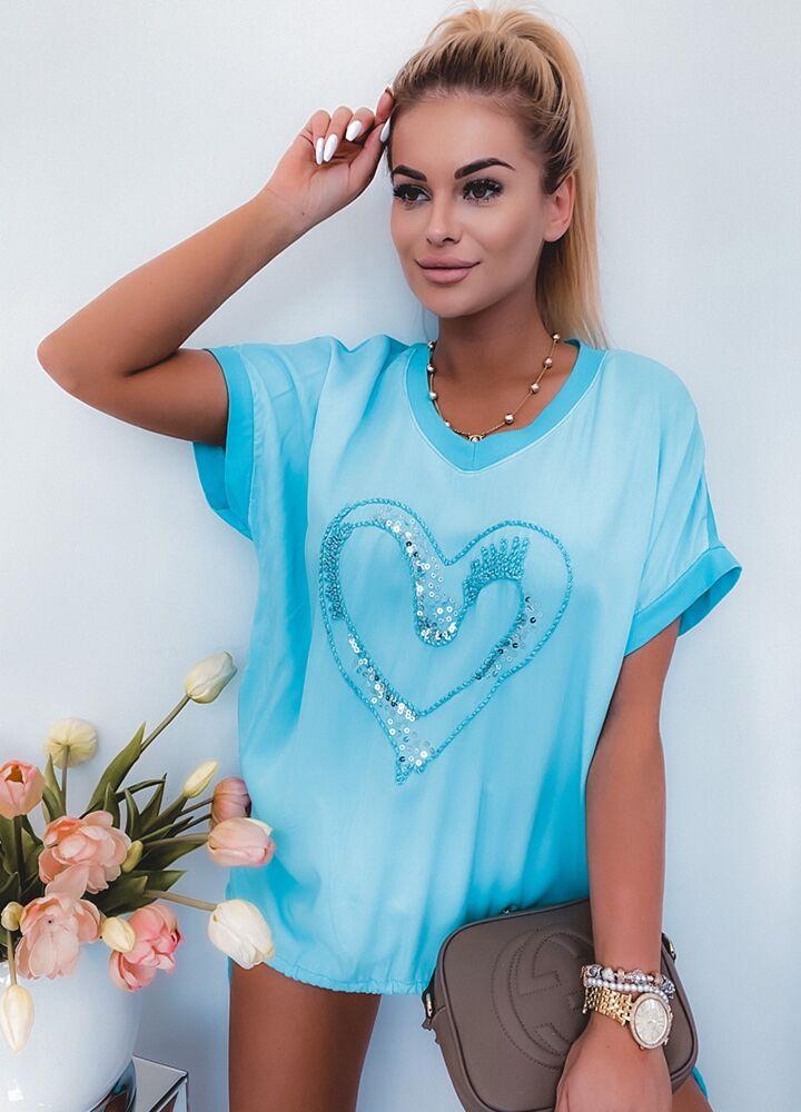 BLUZKA BLUE HEART