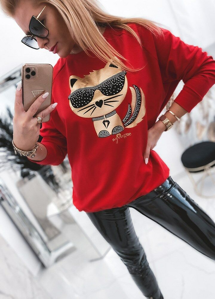 BLUZA RED CAT