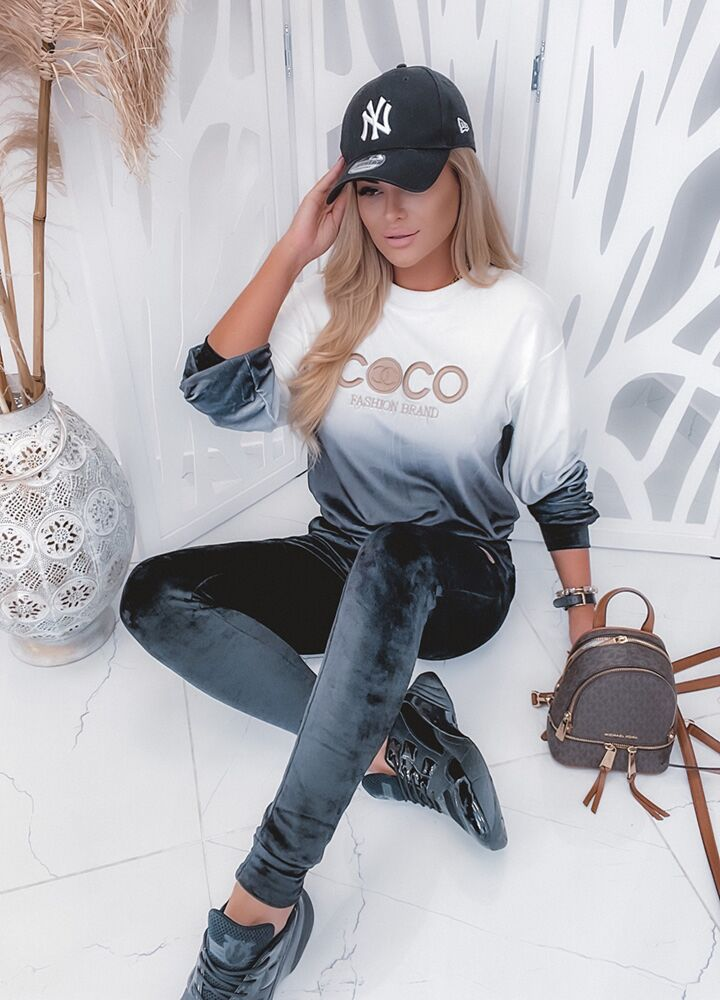 WELUROWY KOMPLET OMBRE COCO
