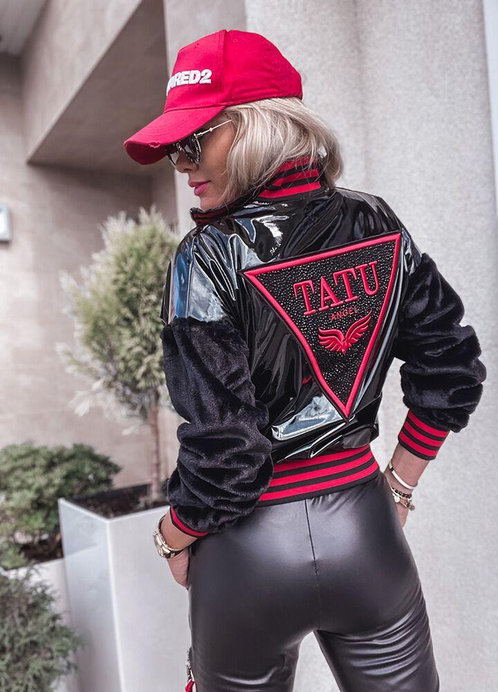 LATEKSOWA BOMBERKA BLACK & RED TATU