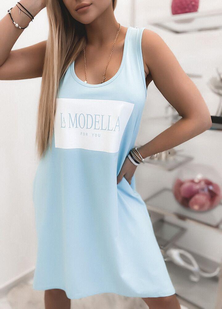 BAWEŁNIANA TUNIKA LA MODELLA BLUE