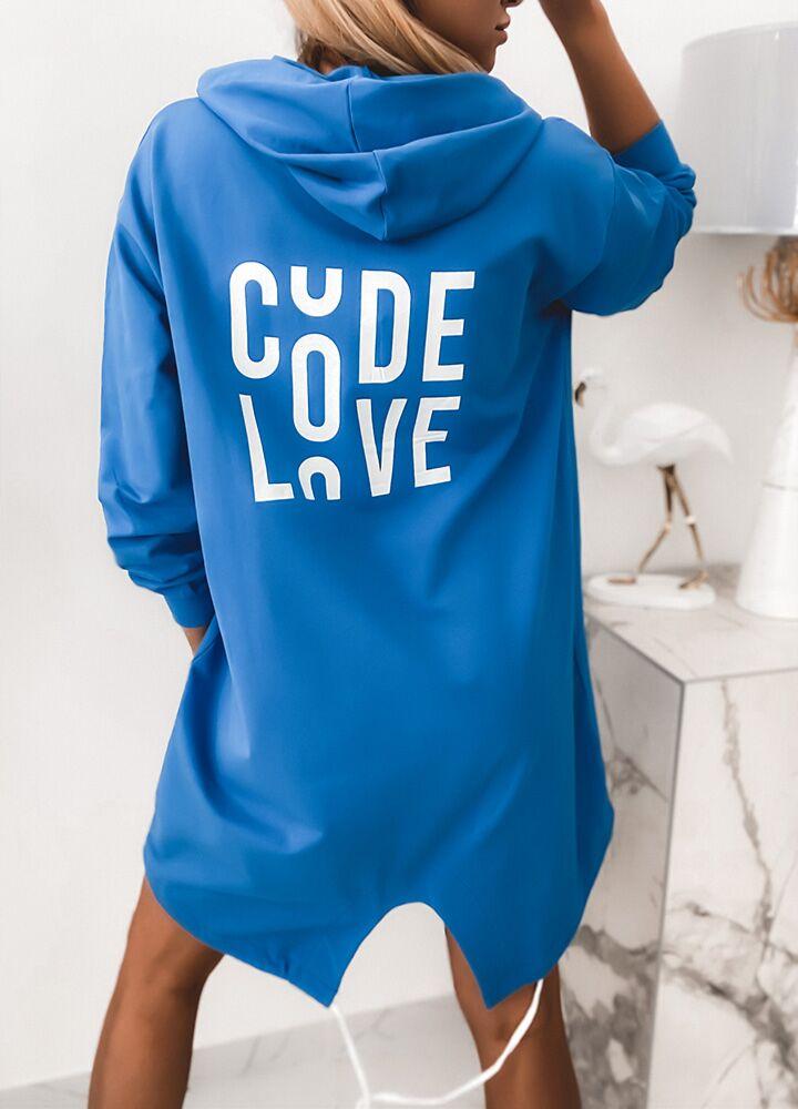 BAWEŁNIANA BLUZA LOVE BLUE
