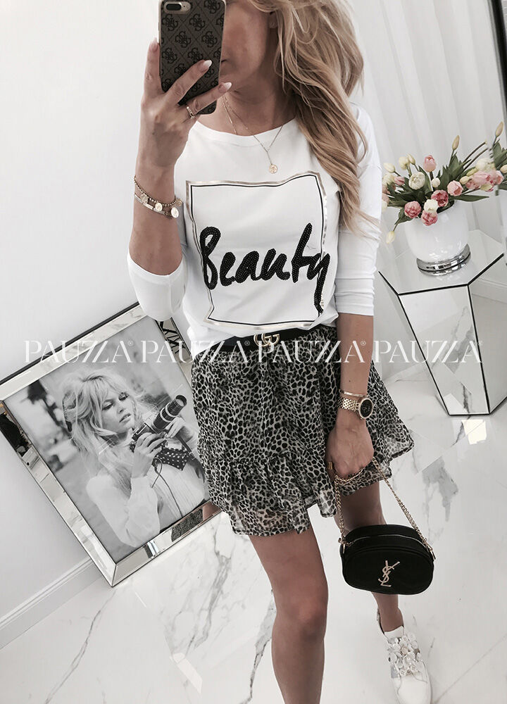 City chic bawełniana bluzka beauty white