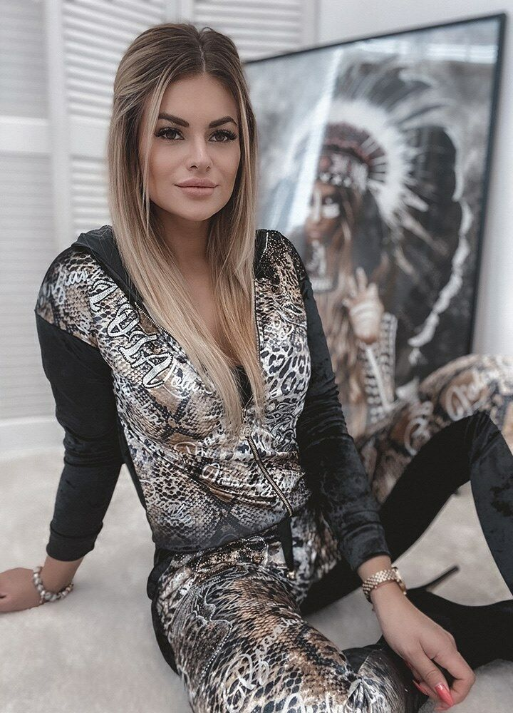 WELUROWY DRES SNAKE SEQUINS