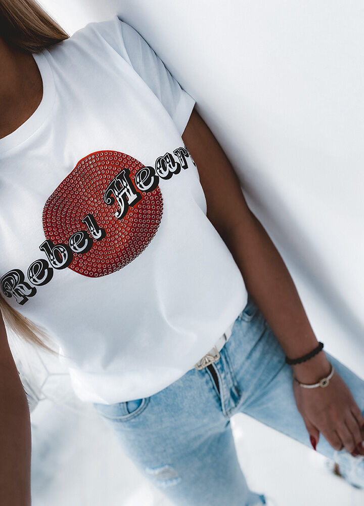 T-SHIRT REBEL HEART